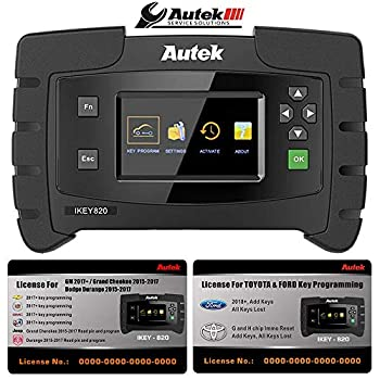 Autek IKEY820 Pro Key Fob Programmer OBD2 Remote Programming Tool Full Package with All Licenses