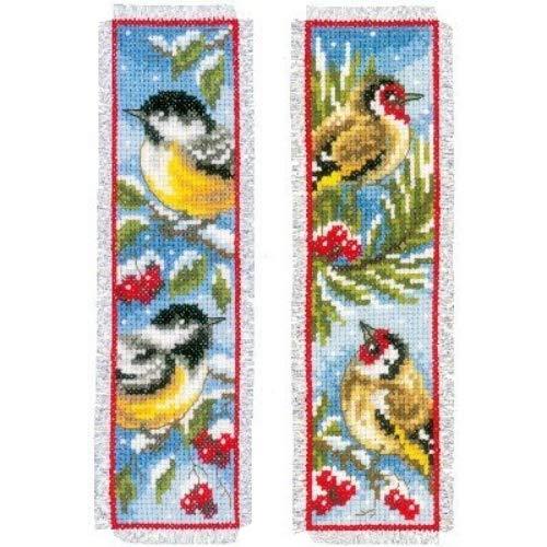 Vervaco PN-0151005 bladwijzer vogels in de winter aida, set van 2