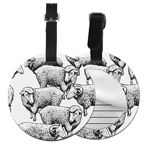 Luggage Tags Sheep Engraved Etching Lamb Suitcase Luggage Tags Business Card Holder Travel Id Bag Tag
