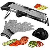 Mandoline Slicer Vegetable Potato Slicer, Julienne Slicer, Onion Cutter, with Stainless Steel Adjustable