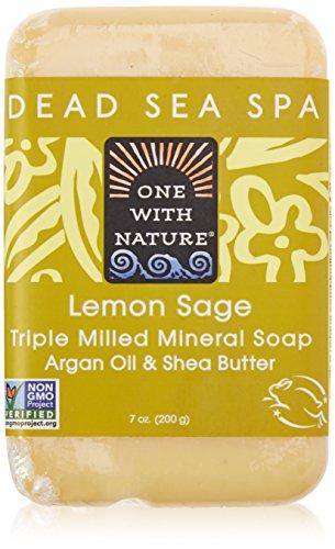 One with Nature Soaps Almond Bar Soap, Lemon Verbena, 7 Oz (Blockseifen)