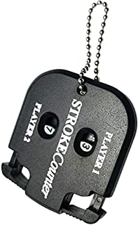 remote.S Cuenta Golpes Golf para 2 Personas Mini Contador Manual con Llavero