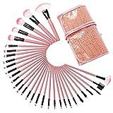 Kits Cepillo del Maquillaje Herramientas 32 suave de fibra de pelo portátil maquillaje cepillos del cepillo del patrón del cocodrilo bolsa de Belleza Profesional ( Color : Pink , Size : One size )