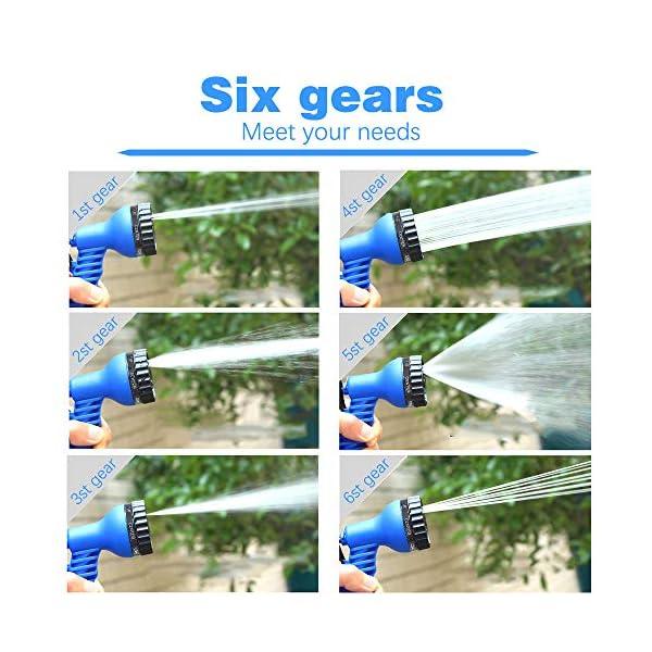 VEGKEY – Manguera de riego Flexible de 30 m, Manguera de riego retráctil, Manguera de Agua Extensible con alcachofa de 8…