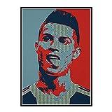 PDFKE Cristiano Ronaldo Sport Soccer Star Poster Print Portugal Football Player Imagen de Pared Decoración del hogar -50x70cm Sin Marco 1 Uds