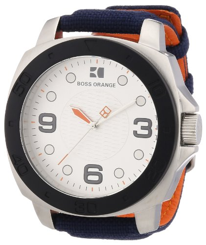 Hugo Boss Boss Orange - Reloj analógico de Cuarzo para Hombre con Correa de Nylon, Color Azul