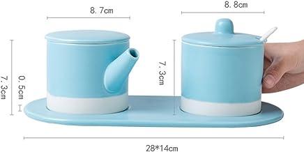 GAYY Würzflasche Keramik Gewürz Tank Set Multifunktionale Haushalt Aroma Topf Puzzle Tank Set (3 Assemblies),Blau B076D48YKB   Kompletter Spezifikationsbereich