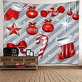Aimsie - Tapiz de pared (poliéster, 200 x 200 cm), diseño de Navidad, color rojo