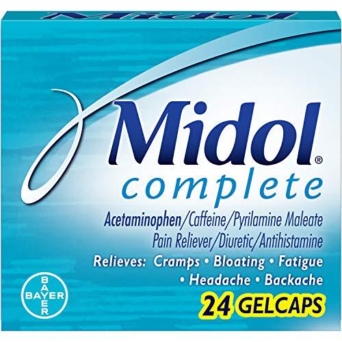 Midol Menstrl Glcap Size 24s Midol Maximum Strength Menstrual Complete Pain Relief