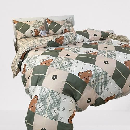 Ropa De Cama Textiles para El Hogar Funda Nórdica Funda De Almohada Tela De Fibra De Poliéster, Suave Y Cómoda, Fácil De Limpiar 180x220cm
