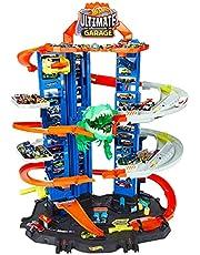 Hot Wheels GJL14 City Robo T Rex Megacity parkeringsplats med leksak dinosaurie