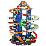 Hot Wheels - Ultimate Garage, Assalto del T-Rex Robot, con 2 Macchinine incluse,...