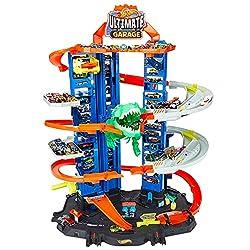 1. Hot Wheels City Robo T-Rex Ultimate Multi-level Garage