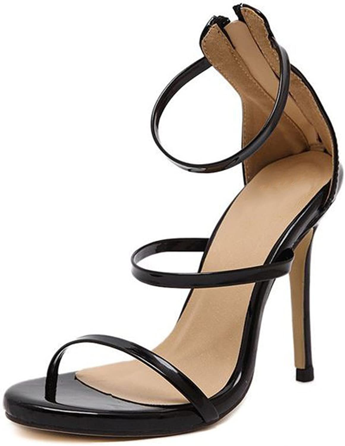SUNNY Store Women's Strappy Stilleto Heeled Sandal Party shoes