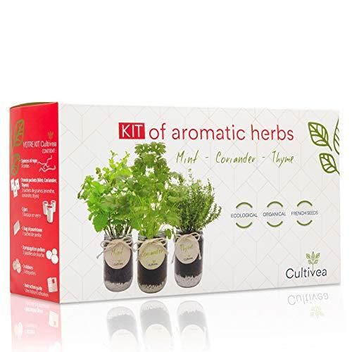 Cultivea Kit completo de hierbas - Cultive sus propias hierbas aromáticas - 100%...
