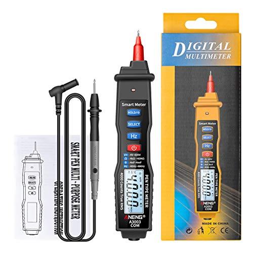 Myya Multímetro Digital Sin Contacto Tipo Lápiz Medidor 4000 Cuentas con Voltaje CA/CC Capacitancia De Resistencia Hz Herramienta Probador A3003