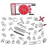 Perfecbuty 32PCS 3D Gioco di Metallo Set, Puzzle Rompicapo Classico Educativo Jigsaw,IQ Sf...