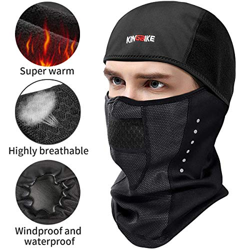 KINGBIKE Balaclava Ski Mask Motorcycle Running Full Face Cover Windproof Waterproof Neoprene...