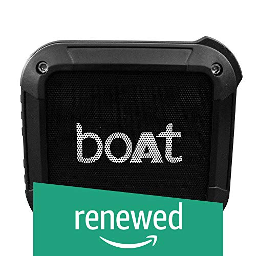 (Renewed) Boat Stone 200 Portable Bluetooth Speakers (Black)