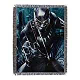 Marvel's Black Panther, 'Ripper' Woven Tapestry Throw Blanket, 48' x 60', Multi Color