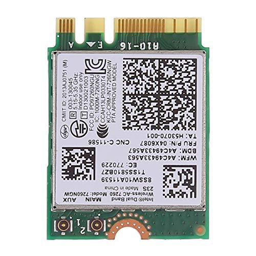 MEIHE-Parts Repuestos Dual Band AC1200 Wireless NGFF M.2 Tarjeta WiFi 7260NGW 7260AC...