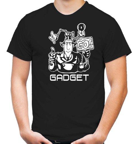 Inspector Gadget T-Shirt   Zeichentrick   Go-Go   Männer     Polizei   Herrn   Cyborg   Serie   Kult (S)