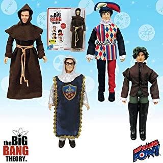 2014 SDCC Exclusive Big Bang Theory Costumes 8-Inch Figures Set of 4 Renaissance Fair Figures
