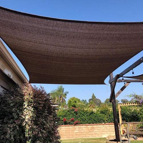 YQ QY Shading Net Protector Solar Paño De Sombra Engrosamiento De Cifrado Adecuado for Cultivo En Invernadero Techo Balcón Aislamiento Neto Cubierta De Polvo (Color : Coffee Color, Size : 2x3m)