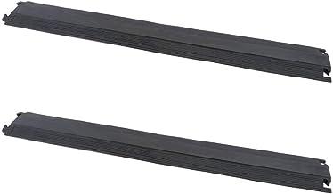 PrimeMatik - Pasacables de Suelo para protección de Cables eléctricos de 1 vía 102 x 13.5 cm (2-Pack)