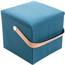 Folding Stool Bulk Storage Stool Stool Cloth Travel Multifunctional Folding Stool,Blue