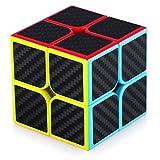 TOYESS Speed Cube Rompecabezas Cubo de Fibra de Carbono 2x2x2 Cubo Magico Liso Cubo de Velocidad Regalo para Adulto Niños,Negro