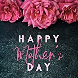 Leowefowa Happy Mother's Day Backdrop 10x10ft Red Flowers Rustic Wall Vinyl Photography Background Themed Party Banner Selfie Portrait Shoot Family Gathering Photo Booth Studio Props