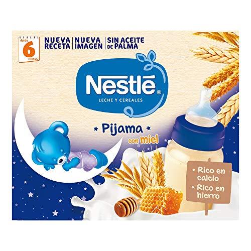 Nestlé Leche y Cereales con Miel Pijama, 2 x 250ml