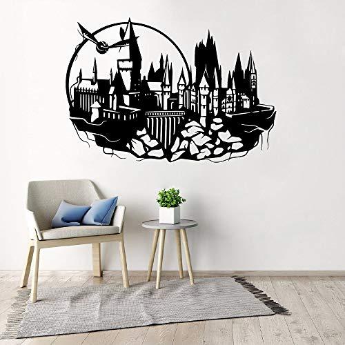 Stickers Mural Autocollant Harry Potter Castle Poudlard Art Pour Chambre D'Enfant Amovible Chambre D'Enfant Chambre Décoratif