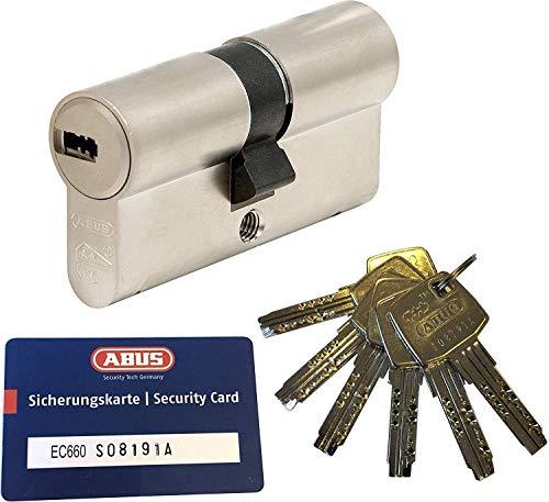 ABUS EC660 Profil-Doppelzylinder Länge (a/b) 40/45mm (c=85mm) mit 6 Schlüssel, mit Sicherungskarte