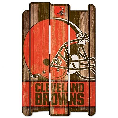 NFL Cleveland Browns Wood Fence Sign, Black
