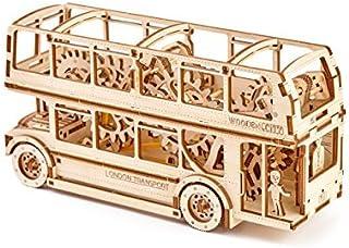 機械3dパズル木製Cityロンドンバス