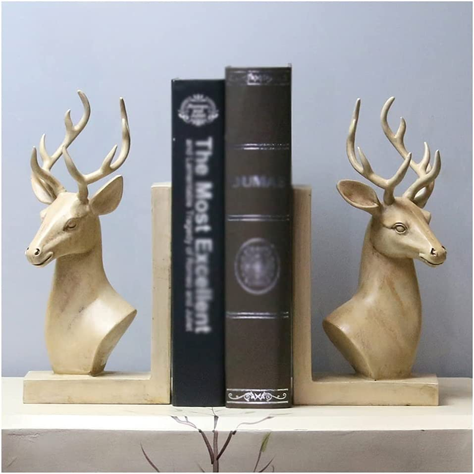 Decoration Bookends Limited Special Price Retro Creative Head Deer Ends New mail order Book