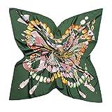 Pañuelos De Mujer Bufanda de seda grande for mujer Pañuelo de seda cuadrado con estampado de piedras preciosas Pañuelos de cabeza 130cm Fulares Bufanda Principal ( Color : Verde , Size : 130*130cm )