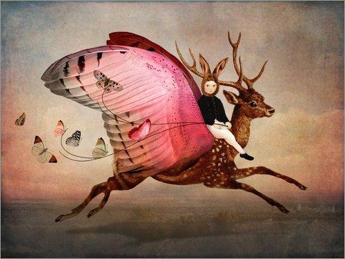 Posterlounge Acrylglasbild 80 x 60 cm: Unterwegs von Catrin Welz-Stein - Wandbild, Acryl Glasbild, Druck auf Acryl Glas Bild