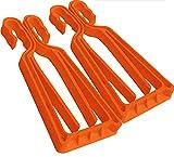 KlipSki Porte-Skis et bâtons en Orange (la Paire) – Rapide et Simple d'Emploi, pour Les Experts...