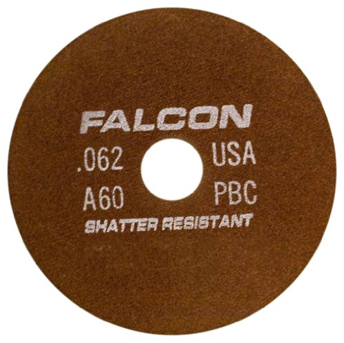Falcon A60PBC Resinoid Bonded Shatter Resistant Tool Room Reinforced Abrasive Cut-off Wheel, Type 1, Aluminum Oxide, 1-1/4