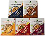 Veggie&Nature Tastes of the World - Combo de 5 packs: Indio (216 g), Africano (180 g), Oriental (180 g), Peruano (180 g) y Tailandés (180 g)