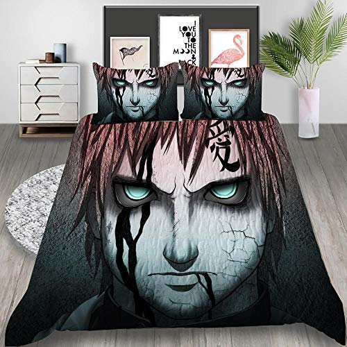 3D Duvet Covers Double Anime Xuanwu Microfiber Quilt Cover Bedding Set With Pillocases 78.7 X 78.7 inch 3 Pcs Bedding Set