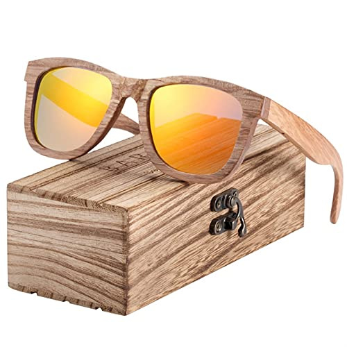 ZHATAOZH Gafas de Sol de Madera Natural para Hombres Gafas de Sol polarizadas Madera Oculos de Sol Feminino Frete Gratis Gafas de Sol polarizadas Hombres Frescos Deportes para Mujer