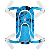 MightySkins Skin Compatible with ZEROTECH Dobby Pocket Drone – Blue Skulls | Protective, Durable, and Unique Vinyl Decal wrap Cover | Easy to Apply, Remove, and Change Styles | Made in The USA