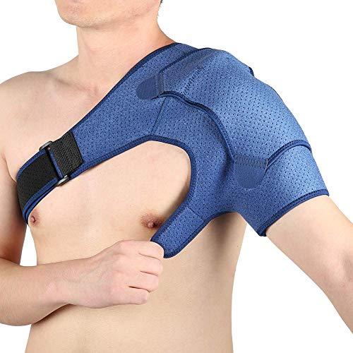 Haofy Schulterbandage Verstellbare Neopren Schulter Unterstützung Bandage für Verletzungen Schulterschmerzen Arthritische Schultern, Kompression Schulterstütze für Damen Herren, Passt Linke Rechte - L