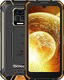 DOOGEE S59 Moviles, [2021] 10050mAh 4GB RAM+64GB ROM, IP68 IP69K Movil Resistente, Potente Altavoz 2 W, Cámara Cuádruple 16MP+Cámara Frontal 16MP Smartphone Android 10 4G, 5.71', NFC/GPS, Naranja