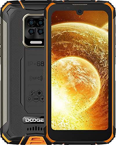 "DOOGEE S59 Moviles, [2021] 10050mAh 4GB RAM+64GB ROM, IP68 IP69K Movil Resistente, Potente Altavoz 2 W, Cámara Cuádruple 16MP+Cámara Frontal 16MP Smartphone Android 10 4G, 5.71"", NFC/GPS, Naranja"