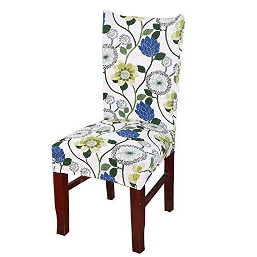 Kaariss Stretch Removable Washable Short Dining Chair Protector Cover Slipcover, 18